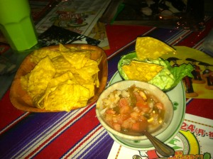 Guacamole and Chips from El Latino