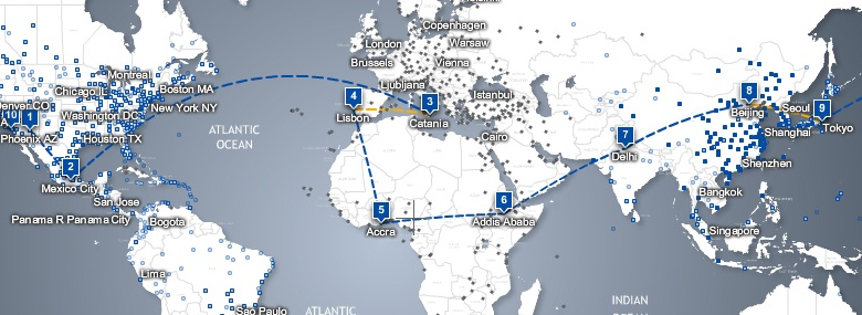 Around the World Air Travel for Under $300